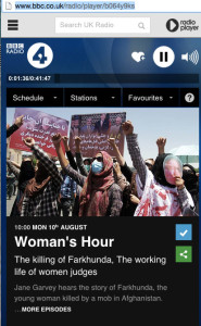 Woman's Hour - Farkhunda
